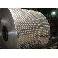 Quality 1050 , 3003 , 3105 Five Bars Embossed Aluminum Checkered Plate / sheet Max thick 5mm wholesale