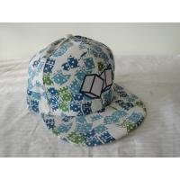 Quality Overall Printing Hats Hip Hop Caps With Flat Peak , Adjustable Velcro wholesale