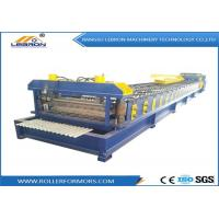 China Blue color 2018 New Design Corrugated Roof Sheet Roll Forming Machine PLC Control Full Automatic made in China on sale