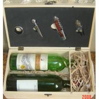 Cheap wooden wine box with accessory for sale