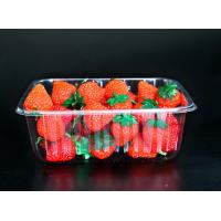 Quality Disposable plastic fruit vegetable food packaging tray 500 grams strawberry packaging tray PET plastic box for fruit wholesale