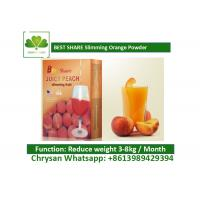 Quality Peach Powder Leisure Slimming Juice , Fat Burning Fruit Juice For Weight Loss wholesale
