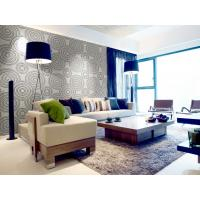 Cheap Wall Art 3D Living Room Wallpaper , Fashion Ceiling Mural Wall Tiles for Hotels for sale