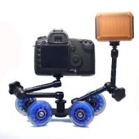 Quality Table Top Compact Dolly Kit Skater Wheel Truck for DSLR Camera Video Monitor   wholesale