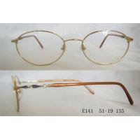 Quality Gold Color Optical Frames For Women , Vintage Round Metal Spectacle Frames wholesale