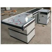 Quality Automatic Stainless Steel Cash Checkout Counter Desk /  White Reception Cashier Counter wholesale