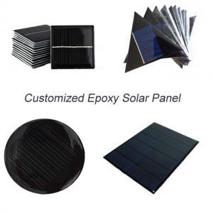 China Custom Made Small Solar Panel , Epoxy Resin Solar Panel For Led Garden Light Battery on sale