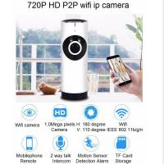 EC2 Mini 180° Panorama Camera Wireless WIFI P2P IP Night Vision Home Security Surveillance iOS/Android APP Control
