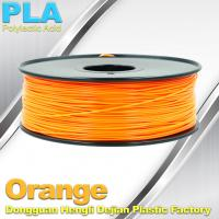 Quality Biodegradable Orange PLA 3d Printer Filament  1.75mm Materials For 3D Printing wholesale