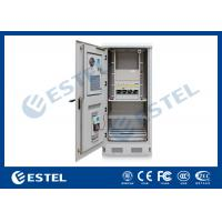 China Energy Saving Standard   Theft Proof  Outdoor Telecom Cabinet With Air Conditioner, Rectifier, PDU / Power Enclosure on sale