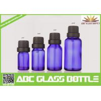 Quality Factory Sale 5ml 10ml 15ml 30ml Blue Glass Bottle With Pilfer Proof Cap wholesale