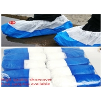 China Waterproof Non Skid Laminated Plastic Disposable Shoe Cover on sale