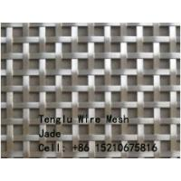 Cheap Flat Wire Square Wire Mesh for Decorative/Flat Wire Woven Mesh/Decorative Crimped Wire Woven Mesh for sale