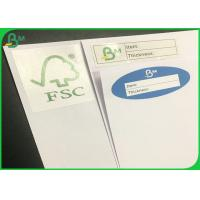 Quality 60g 70g Uncoated Woodfree Paper / White Exercise Book Paper With FSC Certificate wholesale