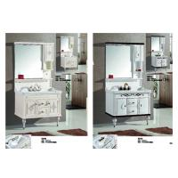 Quality Classic Square PVC Vanity Cabinets Soft Close Door Modern Bathroom Vanity Sets wholesale