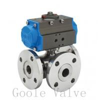 Quality Pneumatic three way Ball Valve wholesale