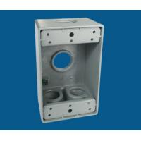 Quality 1 Gang Waterproof Electrical Box / Exterior Outlet Box With 4 Outlet Holes wholesale