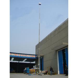 Quality 18m lockable pneumatic telescopic mast/ aluminum telescopic mast/ telecom tower mast/ telescopic mast/ pneumatic mast wholesale