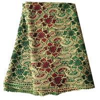 Quality Latest fashion design african cord lace 5 yards polyester embroidery fabrics wholesale