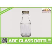 Quality Hot sale 6oz glass bottle for juice with twist off metal cap wholesale