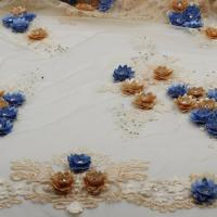 Quality middle East embroidered lace fabric from dress wholesale