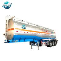 China 3 axles alcohol chemical Fuel Tank Semi Trailer for Liquid Cargo transport on sale