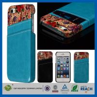 Quality Flower Leather Pocket Back Hard Iphone 5 5S Apple Cell Phone Cases With Card Holder wholesale
