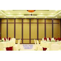 China Melamine Finish Sliding Partition Walls With Aluminum Tacks And Rollers on sale