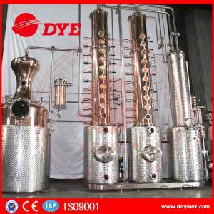 Quality Automatic Vodka Gin Copper Distilling Equipment System Column wholesale