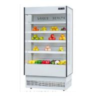 Quality Hypermarket Multideck Open Chiller Air Curtain Cabinet Refrigerator Customized Color wholesale