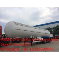 Quality factory direct sale 56,000L lpg gas tanktrailer , high quality 23.5ton propane gas trailer with aluninum cover for sale wholesale