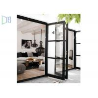 Quality Outside and Inside Openable Aluminium Swing Door 15mm Thickness wholesale