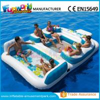 China Waterproof Flame Retardant Inflatable Boat Toys Floating Water Sofa For Adults on sale