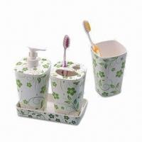 Quality Bathroom Set, Made of Melamine, for Promotional and Gift Purposes, Customized Designs are Accepted wholesale