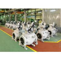 Quality Worm Gear Operation Top Entry Flanged Ball Valve With Easy Maintenance wholesale