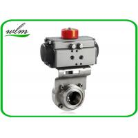 Quality Aluminium Actuator Pneumatic Butterfly Valve , Male / Female Threaded Butterfly Valves wholesale