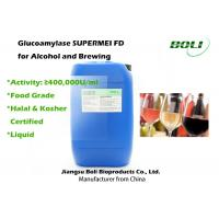 Quality Food Grade Liquid Glucoamylase for Saccharification 400000 U / ml for Alcohol And Brewing wholesale