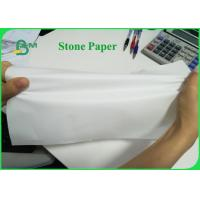 China Tear Resistant 92g 216g Stone Wrapping Paper For Making Notebook Eco - Friendly on sale