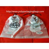 Quality Garment / Pillow Packaging Poly Bag Clear Drawstring Plastic Bags wholesale