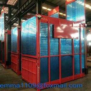 China SC100/100 Two Cage Passenger Hoist Lifting Building Materials 220v-440v 50Hz/60Hz on sale