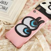 Quality Soft Plaid PU Lovely Big Eyes Cell Phone Case Back Cover for iphone 7 7 plus 6s 6 plus wholesale