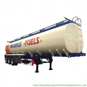 Quality Carbon Steel Oil Transport Tank Trailer Tri Axle Heavy Capacity 30000L-45000L wholesale