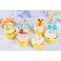 Quality DIY Chocolate Cupcake Toppers , Edible Ice Cream Decorations Dry & Cool Storage wholesale