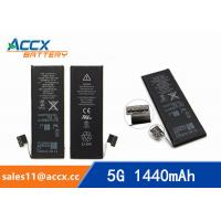 Quality ACCX brand new high quality li-polymer internal mobile phone battery for IPhone 5G with high capacity of 1440mAh 3.7V wholesale