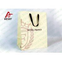 Buy cheap Customized Art Paper Gift Bags Surface UV Spoting With Cotton Ribbon product