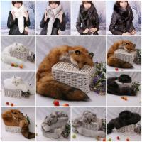 China Fox Fur Scarves Fur Scarf Fox Fur Wraps Fur Shawl Fur Cape Fur Poncho 4 Colors on sale