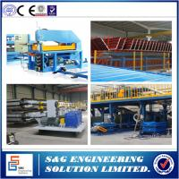Quality 435 - 1150mm Width PU Sandwich Panel Production Line With Color Steel Roll Forming Machine wholesale