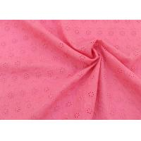 Quality OEM Embroidery Eyelet Cotton Dying Lace Fabric With Floral Circle Pattern For Top wholesale