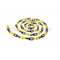 Quality 8 MM Diameter Traffic Cone Plastic Chain Link With Black Yellow Color wholesale