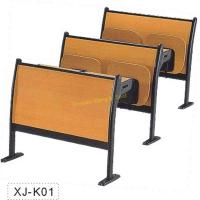 China Classic Amphitheater School Meeting Room Chair Metal Frame Plywood Interlocked on sale